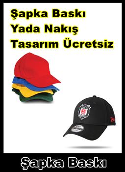 BASKILI ŞAPKA