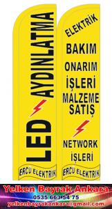 ercü elektrik yelken bayrak reklam ankara